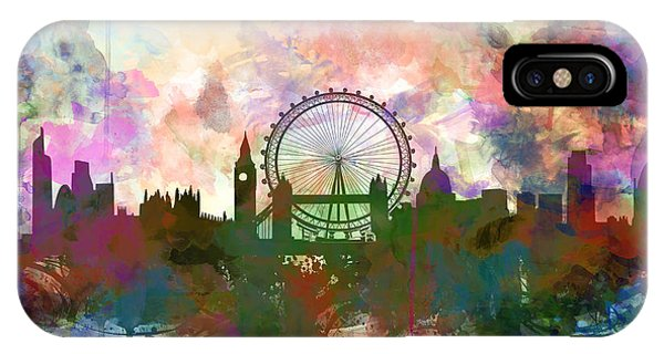 London Skyline Watercolor IPhone Case