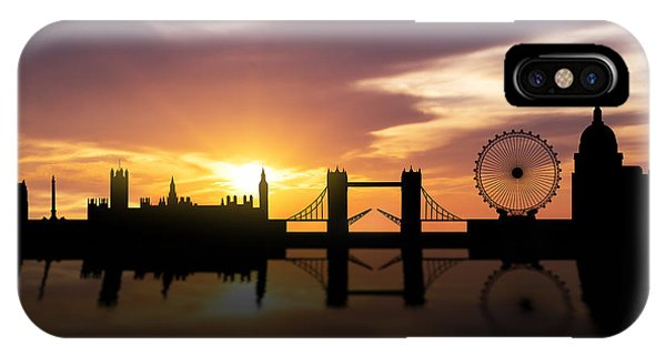London Eye iPhone Case - London Sunset Skyline  by Aged Pixel