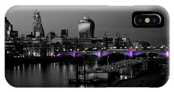 London Thames Bridges Bw IPhone Case
