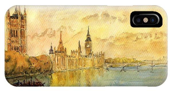 London Thames River IPhone Case
