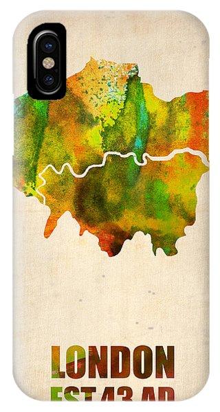 London Watercolor Map 1 IPhone Case