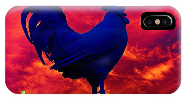 London's Blue Rooster  IPhone Case