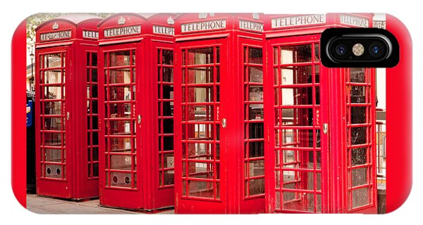 London's Red Phone Boxes IPhone Case