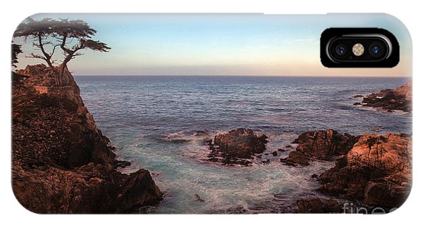 Monterey iPhone Case - Lone Cyprus Pebble Beach by Mike Reid