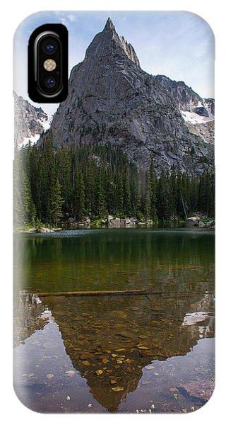 Indian Peaks Wilderness iPhone Case - Lone Eagle Peak - Vertical by Aaron Spong