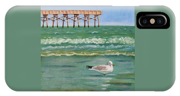 Lone Gull A-piers IPhone Case