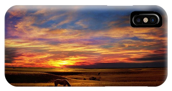 Lone Horse Greenwood County IPhone Case