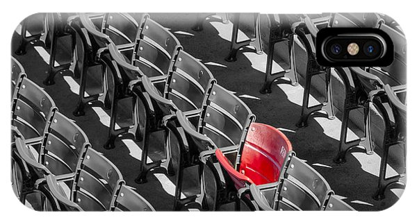 Lone Red Number 21 Fenway Park Bw IPhone Case