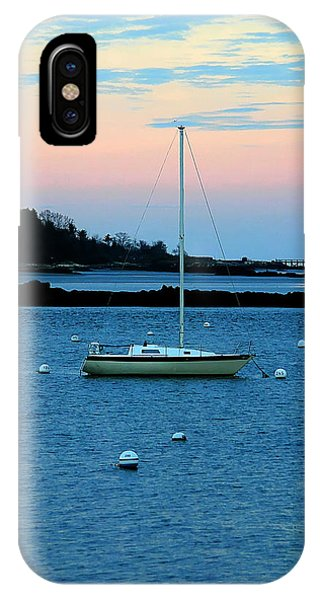 Lone Sailboat At York Maine IPhone Case