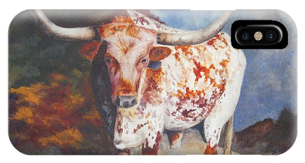Lone Star Longhorn IPhone Case