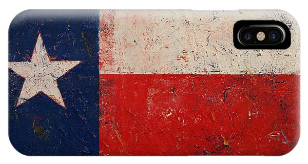 Stars And Stripes iPhone Case - Lone Star by Michael Creese