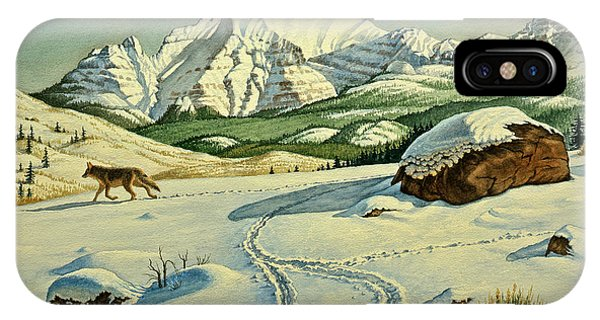 Yellowstone iPhone Case - Lone Tracker by Paul Krapf