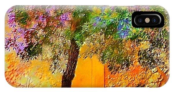 Lone Tree Orange Wall - Square IPhone Case