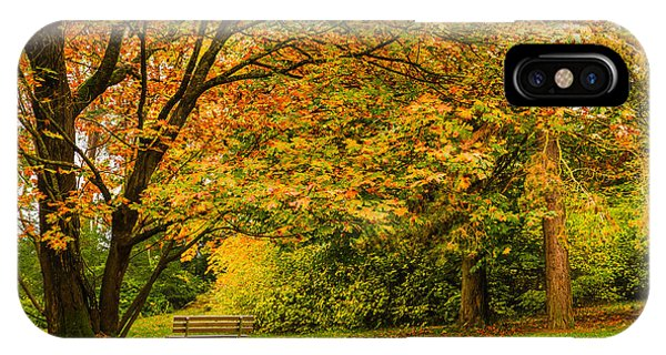 Lonely Autumn Bench IPhone Case