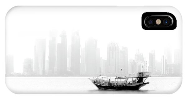 Tower iPhone Case - Lonely Boat by Ahmed Lashin