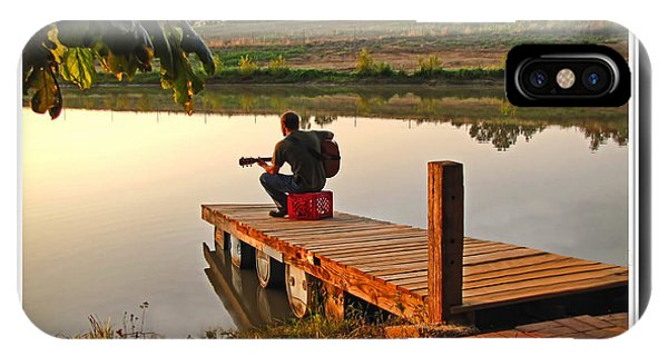 Lonely Guitarist IPhone Case