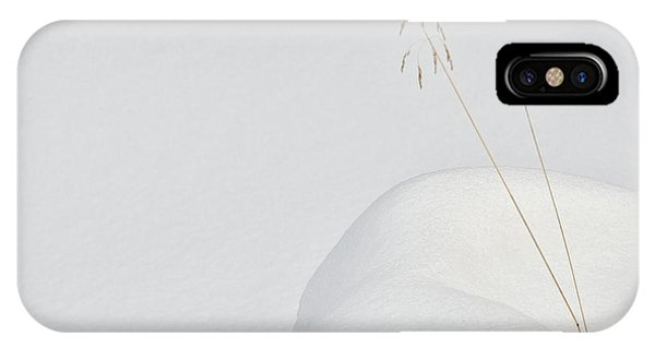 Simple iPhone X Case - Lonely In The Snow by Miquel Angel Art?s