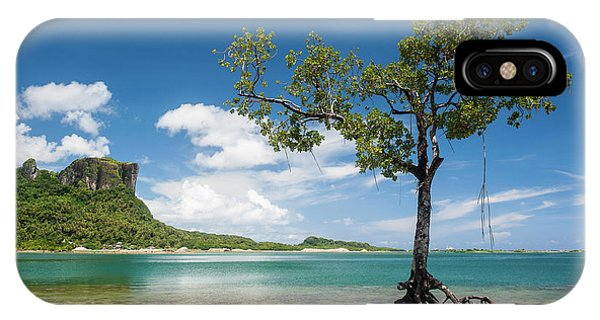 Micronesia iPhone Case - Lonely Mangrove Tree Standing by Michael Runkel