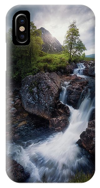 Spring Mountains iPhone Case - Lonely Mountain 3. by Juan Pablo De