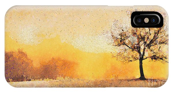 Lonely Tree On The Edge Of The Forest IPhone Case