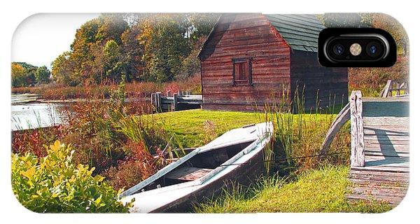 iPhone Case - Long Ago Along The Marsh by Barbara McDevitt