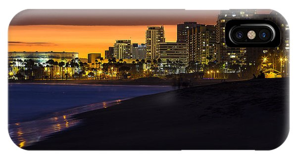 Long Beach Comes Alive At Dusk By Denise Dube IPhone Case