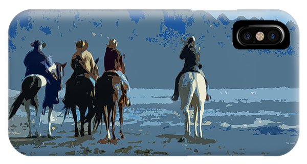 Long Beach Horses Study					 IPhone Case