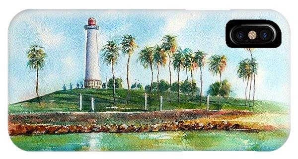 Long Beach Lighthouse  Version 2 IPhone Case