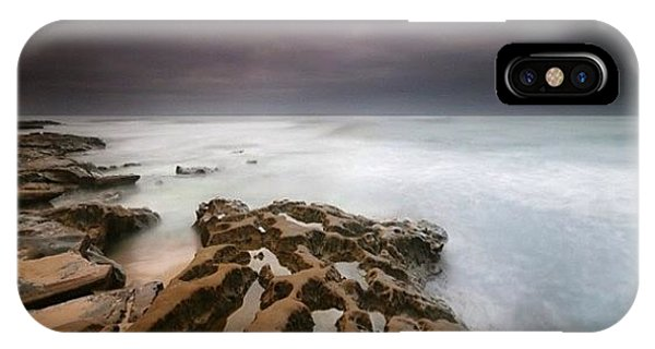 iPhone X Case - Long Exposure Sunset On A Dark Stormy by Larry Marshall