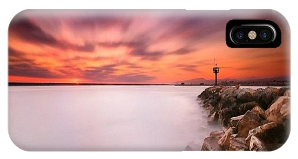 iPhone X Case - Long Exposure Sunset Shot At A Rock by Larry Marshall