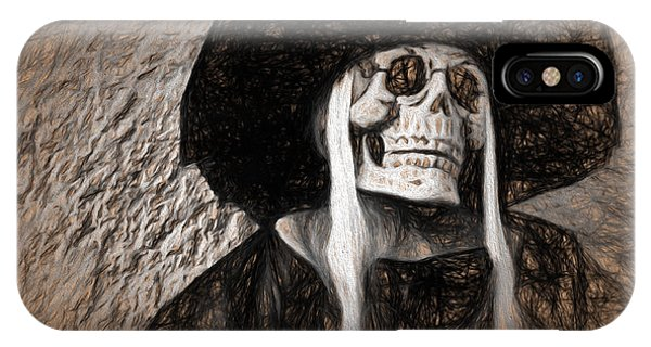 Long Haired Skeleton IPhone Case