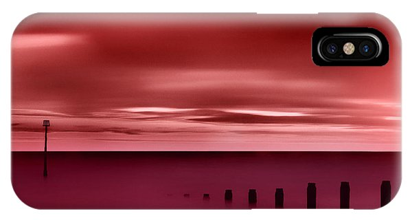 Long Red Sunset IPhone Case