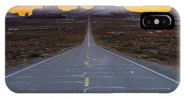 Monument iPhone Case - Long Road To Monument Valley by Larry Marshall