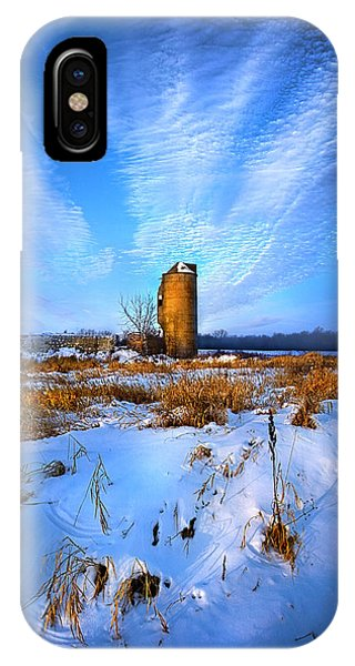 Silo iPhone Case - Longing For Some Solitary Company by Phil Koch
