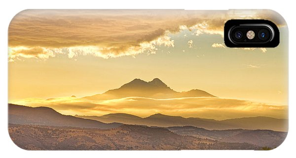 Longs Peak Autumn Sunset IPhone Case