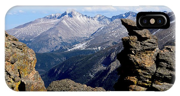 Long's Peak From The Rock Cut IPhone Case