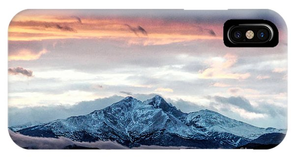 Longs Peak In Winter IPhone Case