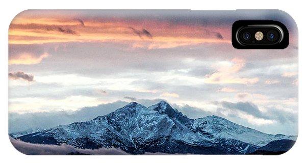 Longs Peak In Winter IPhone Case