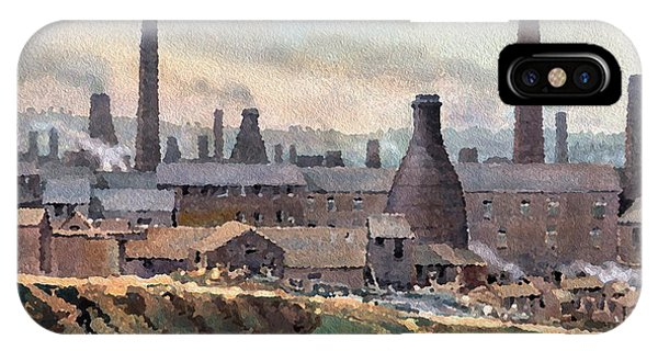 iPhone Case - Longton Pot Works by Anthony Forster