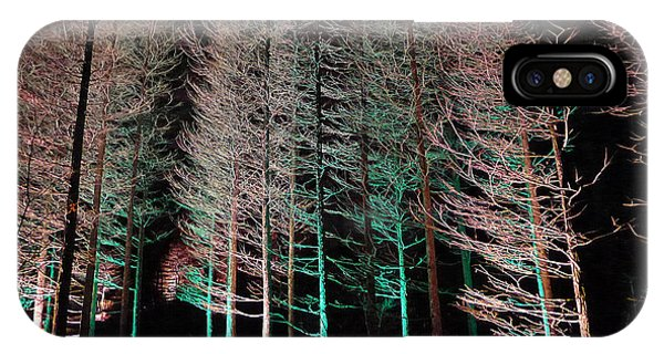 IPhone Case featuring the photograph Longwood Gardens - Tree Stand At Night by Richard Reeve