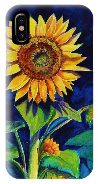 Midnight Sunflower IPhone Case