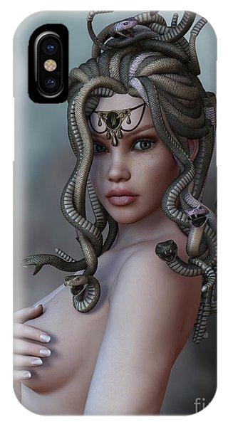 Gorgon iPhone Case - Look Deep Within by Alexander Butler