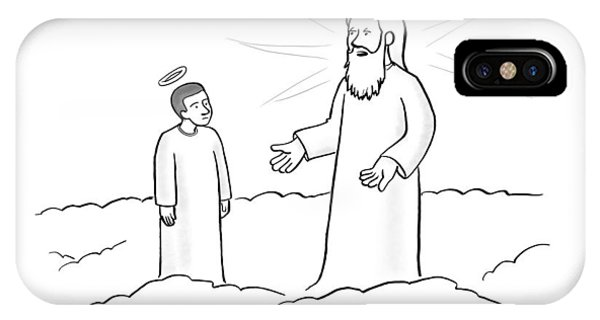 Angels iPhone Case - Look If I Have To Explain The Meaning by Paul Noth