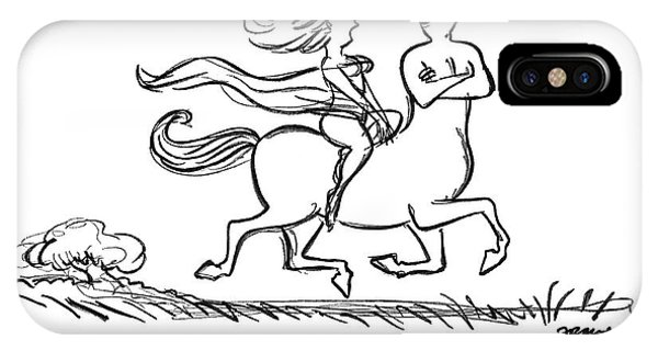Centaur iPhone Case - Look Where You're Going! by Frank Modell