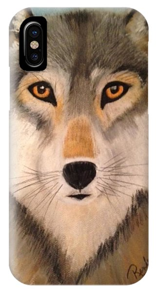 Looking At A Timber Wolf IPhone Case