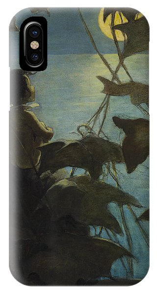 Looking At The Moon Circa 1916 IPhone Case
