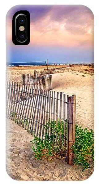 Looking Down The Beach IPhone Case