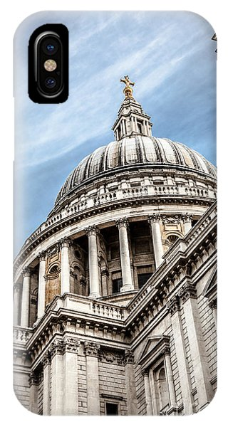 Looking Up At The Dome Of Saint Pauls Cathedral In London IPhone Case