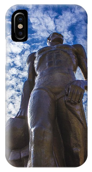 Looking Up At The Spartan Statue IPhone Case