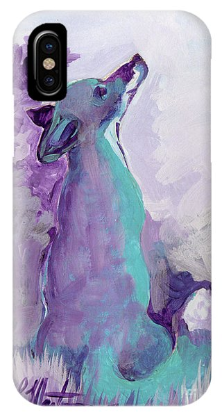 IPhone Case featuring the painting Looking Up by Linda L Martin